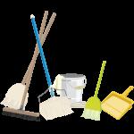 掃除用具の画像。